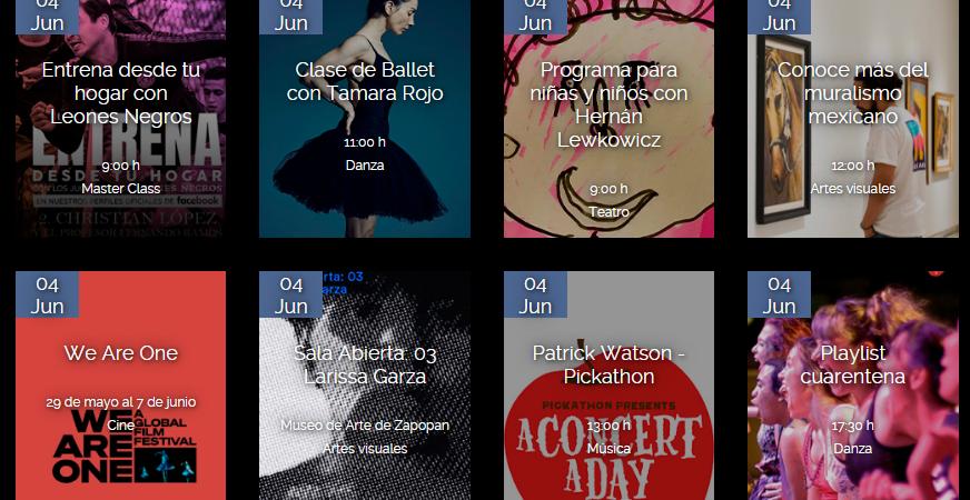 Cartelera Ciudad Digital Junio 2020 Guadalajara y cultura