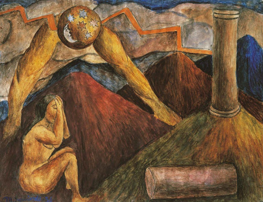 Obra Alegoría de Trabajo por María Izquierdo Museo Blaisten,
